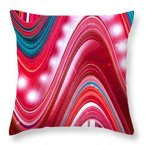 Moveonart! Digital Gallery Throw Pillow featuring the digital art Moveonart Wave Of Enlightenment Three by Jacob Kanduch