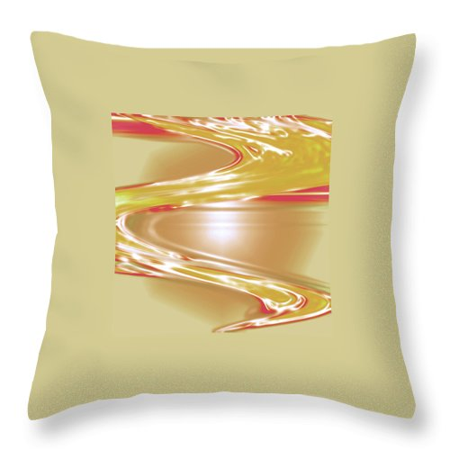 Moveonart! Digital Gallery Throw Pillow featuring the digital art Moveonart Wave Of The Annointing by Jacob Kanduch