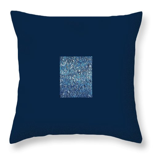 Moveonart! Digital Gallery Throw Pillow featuring the painting Moveonart Waves In The Water by Jacob Kanduch