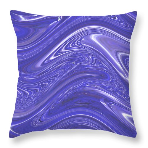Moveonart! Digital Gallery Throw Pillow featuring the digital art Moveonart Waves Of Blue For You 1 by Jacob Kanduch