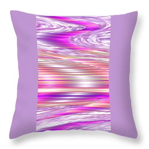 Moveonart! Digital Gallery Throw Pillow featuring the digital art Moveonart Waves Of Enduring Strength by Jacob Kanduch