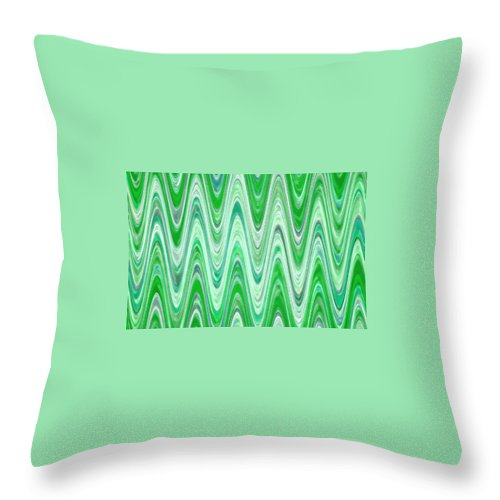Moveonart! Digital Gallery Throw Pillow featuring the digital art Moveonart Waves Of Good Fortune by Jacob Kanduch