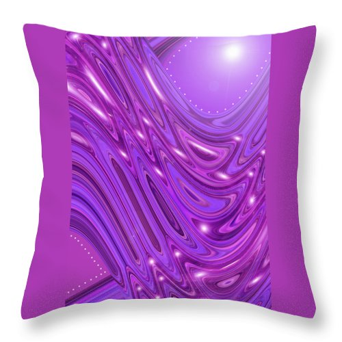Moveonart! Digital Gallery Throw Pillow featuring the digital art Moveonart Waves Of Royal Provision by Jacob Kanduch
