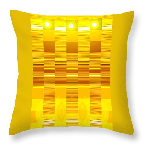 Moveonart! Digital Gallery Throw Pillow featuring the digital art Moveonart Yellow Program Six by Jacob Kanduch