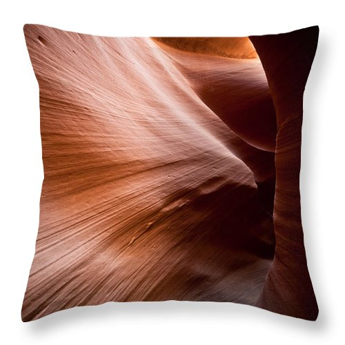 Slot Canyon Throw Pillow featuring the photograph Moving Canyon by Scott Sawyer