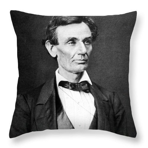 Abraham Lincoln Throw Pillow featuring the photograph Mr. Lincoln by War Is Hell Store