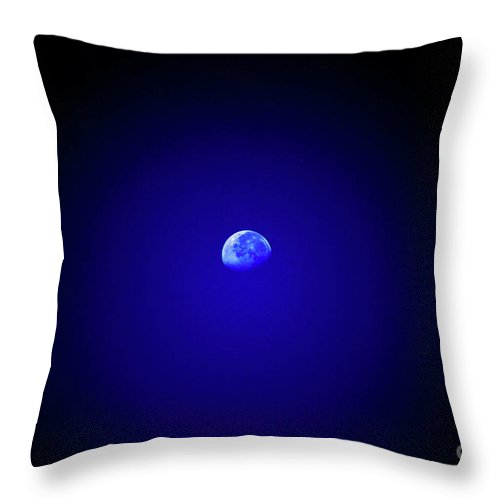 Moon Throw Pillow featuring the photograph Mr Moon by Lori Tambakis