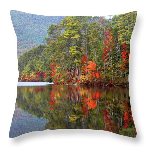 Landscape Throw Pillow featuring the photograph Mt. Chocorua Reflections II by Lynne Guimond Sabean
