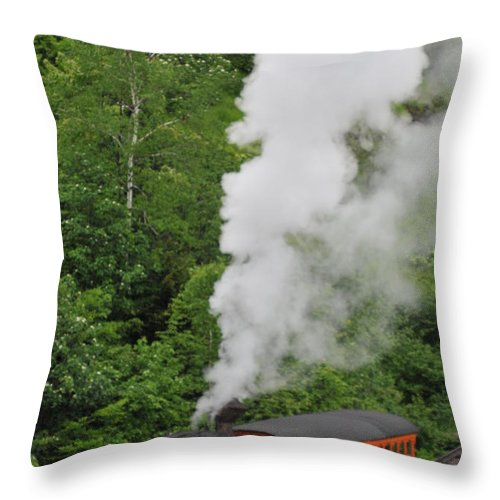 Cog Railroad Throw Pillow featuring the photograph Mt Washington Cog Railroad by Brian Hoover