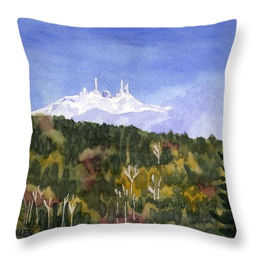 Landscape Throw Pillow featuring the painting Almost Mystical by Sharon E Allen