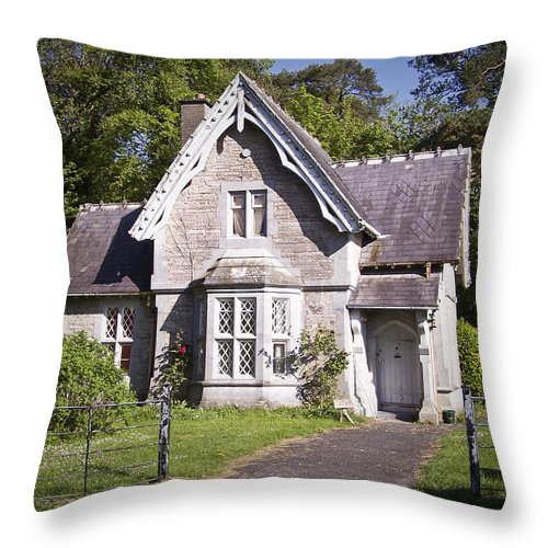 Irish Throw Pillow featuring the photograph Muckross Cottage Killarney Ireland by Teresa Mucha