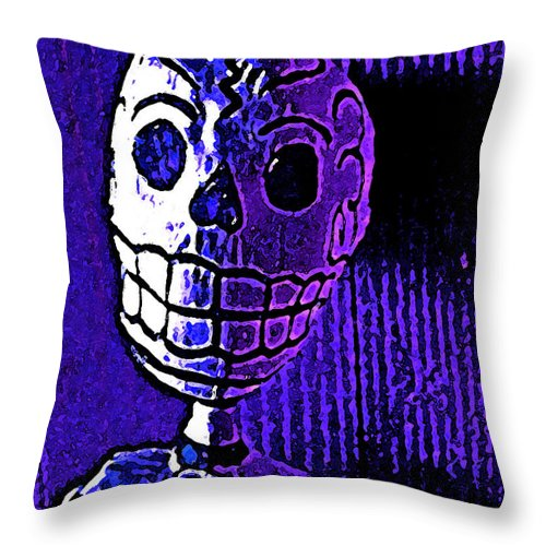 Skeleton Throw Pillow featuring the photograph Muertos 2 by Pamela Cooper