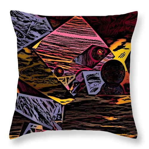 Throw Pillow featuring the digital art Multiverse II by David Lane