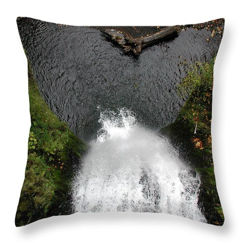 Multnomah Falls Throw Pillow featuring the photograph Multnomah Falls - 4 by D'Arcy Evans