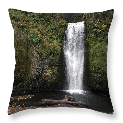 Multnomah Falls Throw Pillow featuring the photograph Multnomah Falls 2 by D'Arcy Evans