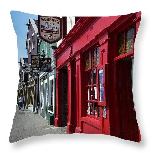Irish Throw Pillow featuring the photograph Murphys Bed And Breakfast Dingle Ireland by Teresa Mucha
