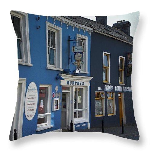 Irish Throw Pillow featuring the photograph Murphys Ice Cream Dingle Ireland by Teresa Mucha