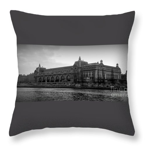 Paris Throw Pillow featuring the photograph Musee D'orsay by Carol Groenen