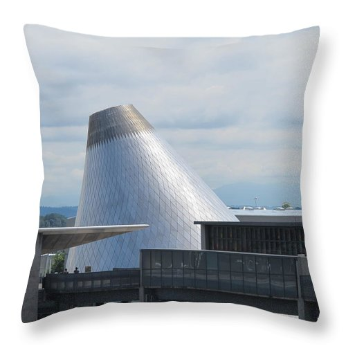 Museum Of Glass Throw Pillow featuring the photograph Museum Of Glass 7 by Cindy Kellogg