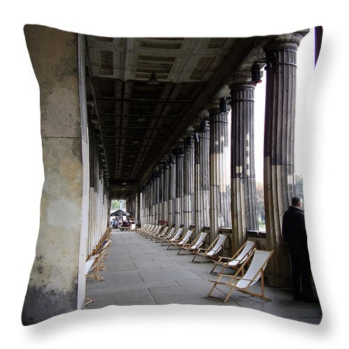 Museumsinsel Throw Pillow featuring the photograph Museumsinsel by Flavia Westerwelle