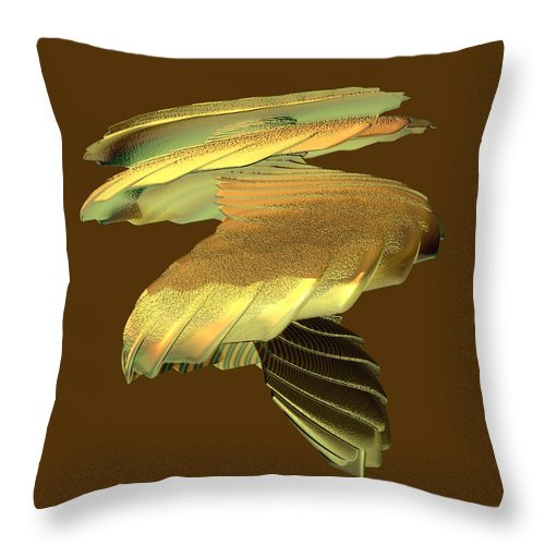 Abstract Throw Pillow featuring the digital art Mushroom by Frederic Durville