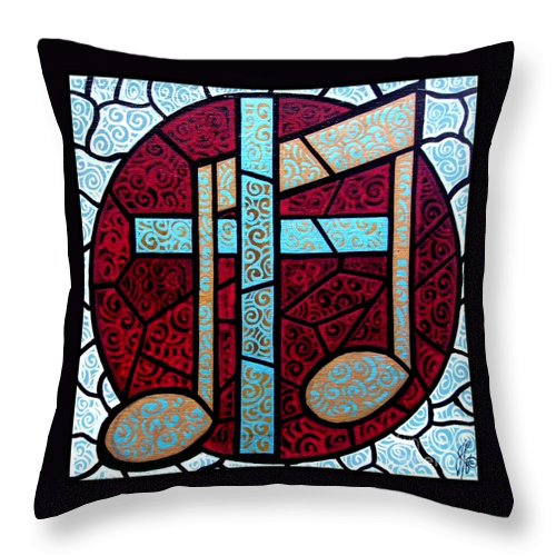 Cross Throw Pillow featuring the painting Music Of The Cross by Jim Harris