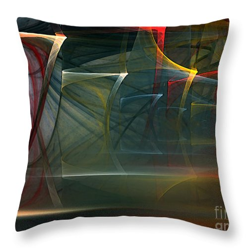 Abstract Throw Pillow featuring the digital art Music Sound by Karin Kuhlmann