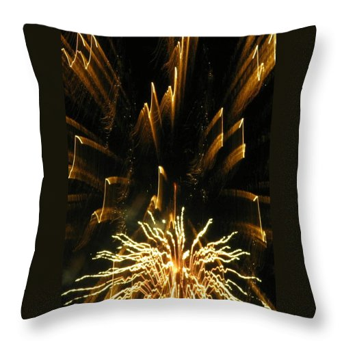 Fireworks Throw Pillow featuring the photograph Music To My Eyes by Rhonda Barrett