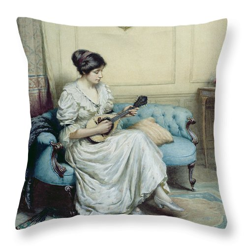 Musical Throw Pillow featuring the painting Musical Interlude by William Kay Blacklock