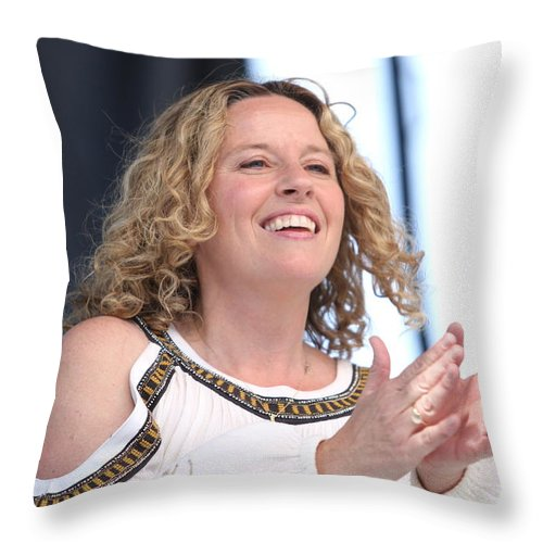 Singer Throw Pillow featuring the photograph Musician Amy Helm by Concert Photos
