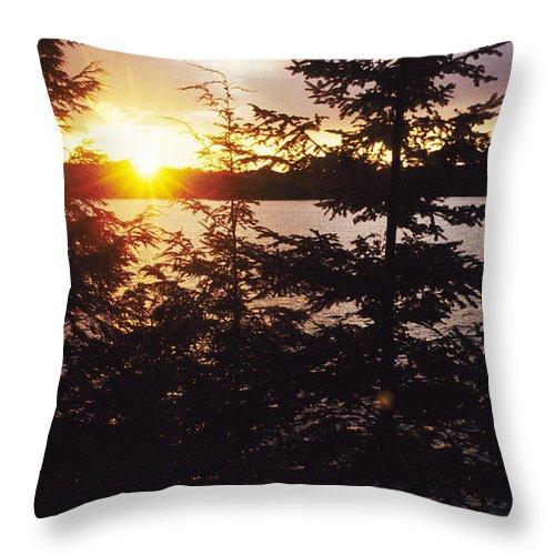 Muskoka Throw Pillow featuring the photograph Muskoka Lake Of Bays Sunrise by Steve Somerville