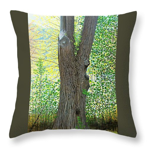Landscape Throw Pillow featuring the painting Muskoka Maple by Kenneth M Kirsch