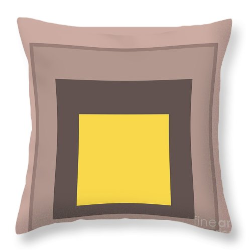 Mustard Throw Pillow featuring the digital art Mustard And Gray 9 by Abstractions Online