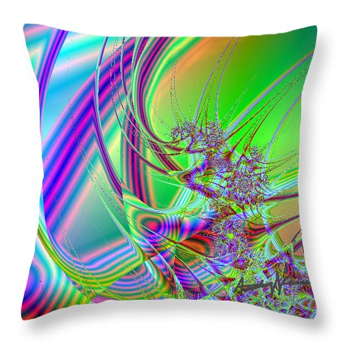 Fractal Throw Pillow featuring the digital art Mutate by Anthony Caruso