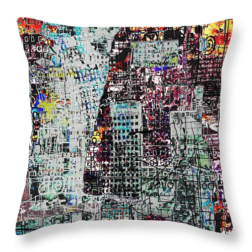 City Throw Pillow featuring the digital art Mutually Assured by Andy Mercer