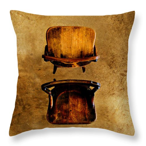 Concrete Throw Pillow featuring the photograph My Arms Were Around You And I Hoped That You Wouldnt Hurt Me by Dana DiPasquale