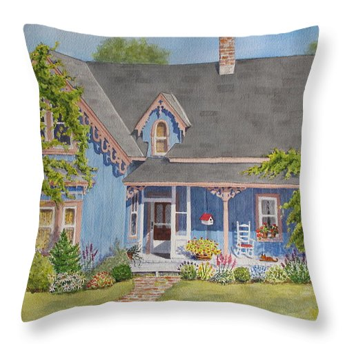 House Throw Pillow featuring the painting My Blue Heaven by Mary Ellen Mueller Legault