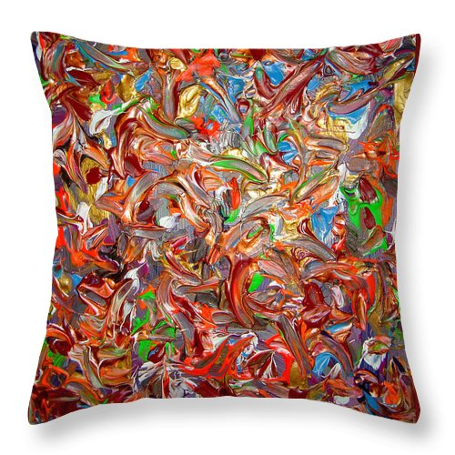 Psychedelic Throw Pillow featuring the painting My Colors Connection by Safak Tulga