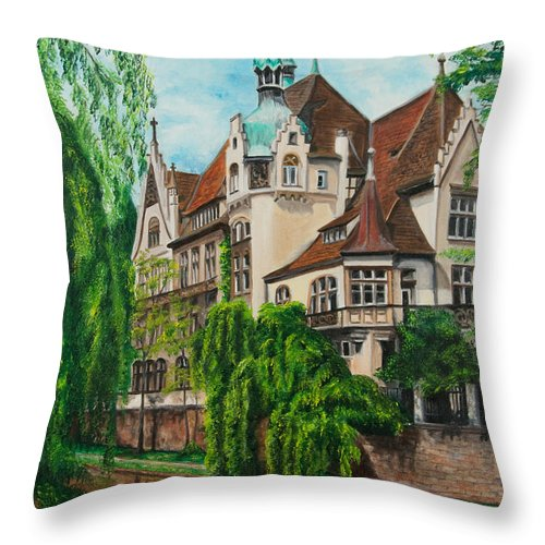 Dream House Throw Pillow featuring the painting My Dream House by Charlotte Blanchard