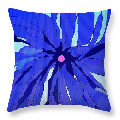 Flower Throw Pillow featuring the digital art My Fantastic Flower by Ian MacDonald