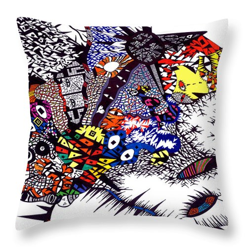 Feelings Throw Pillow featuring the painting My Feelings by Safak Tulga