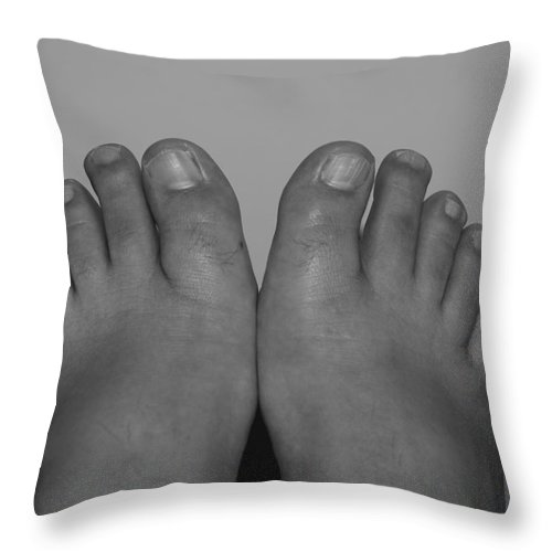 Pop Art Throw Pillow featuring the photograph My Feet By Hans by Rob Hans