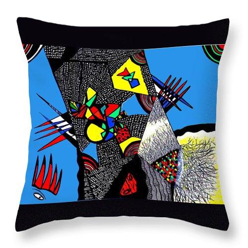Safak Tulga Throw Pillow featuring the painting My Freedom by Safak Tulga