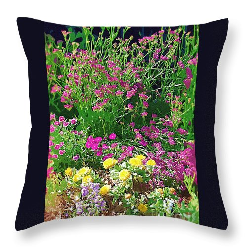 Gardens Throw Pillow featuring the photograph My Garden  by Donna Bentley