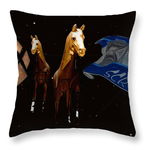 Black Throw Pillow featuring the photograph My How Times Change by Charles Stuart