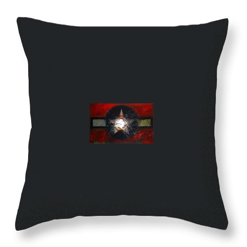 Usaaf Insignia Throw Pillow featuring the painting My Indian Red by Charles Stuart