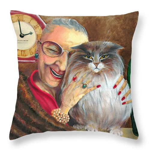 Whimsical Throw Pillow featuring the painting My Jewels by Shelly Wilkerson
