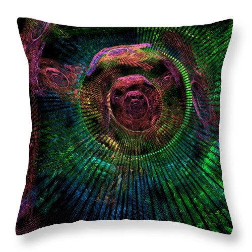 Fractal Throw Pillow featuring the digital art My Mind's Eye by Lyle Hatch