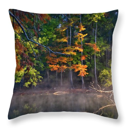 Autumn Throw Pillow featuring the photograph My Morning View by Lana Trussell