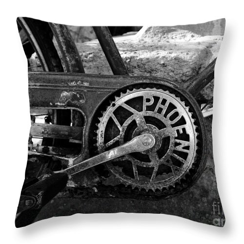 Bicycle Throw Pillow featuring the photograph My Old Phoenix by David Lee Thompson